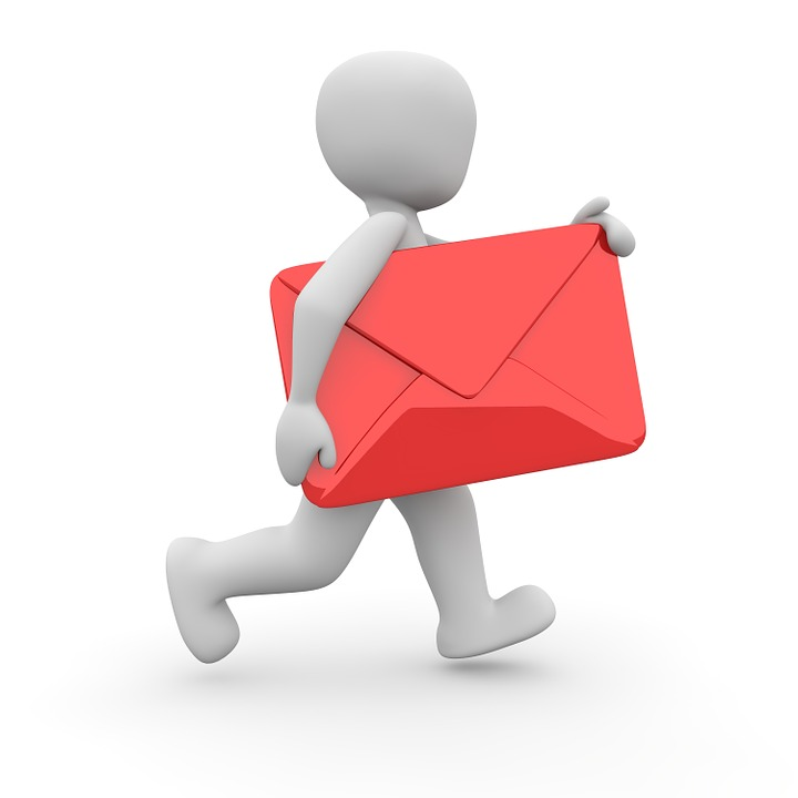 person carrying over sized envelope