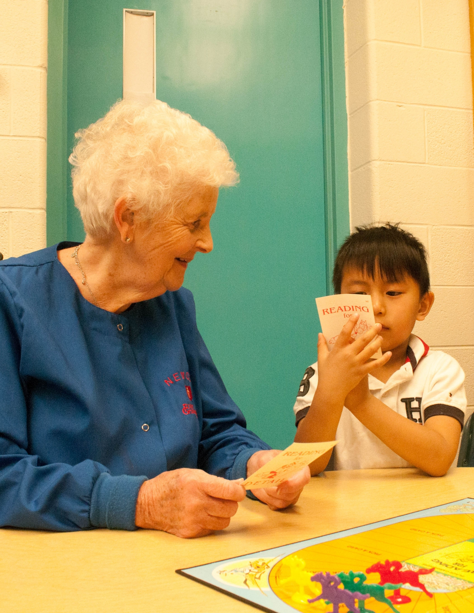 Foster Grandma volunteering with child